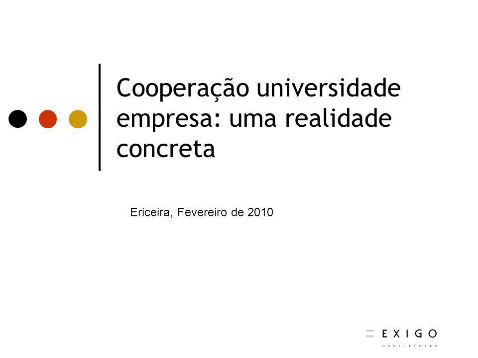 Cooperação universidade empresa: uma realidade concreta Ericeira, Fevereiro de 2010