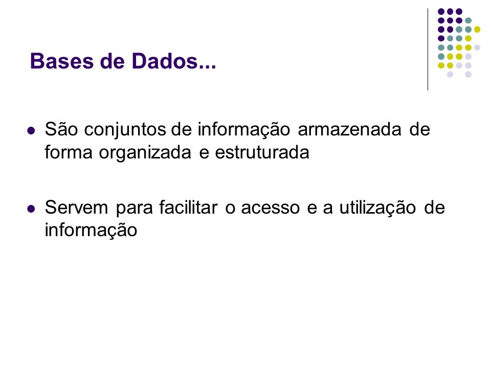 Bases de Dados...