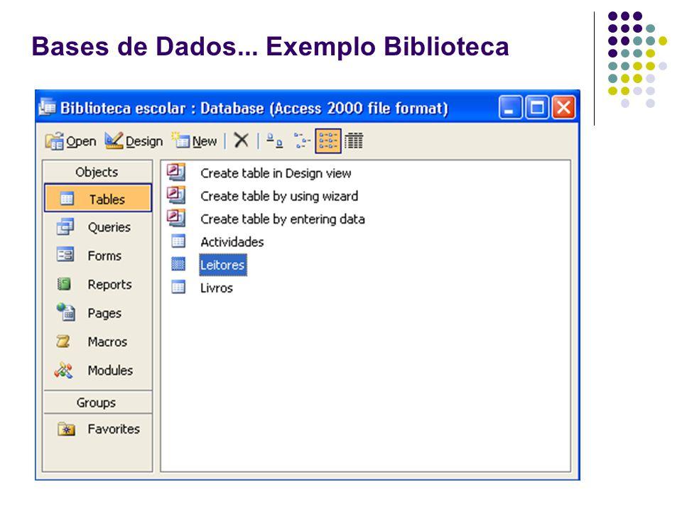Bases de Dados... Exemplo Biblioteca