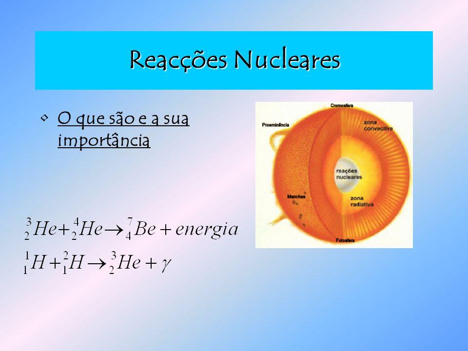 Reacções Nucleares O que são e a sua importância