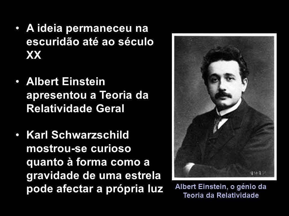 Albert Einstein, o génio da Teoria da Relatividade A ideia permaneceu na escuridão até ao século XX Albert Einstein apresentou a Teoria da Relatividad