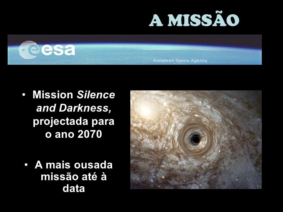Mission Silence and Darkness, projectada para o ano 2070 A mais ousada missão até à data A MISSÃO