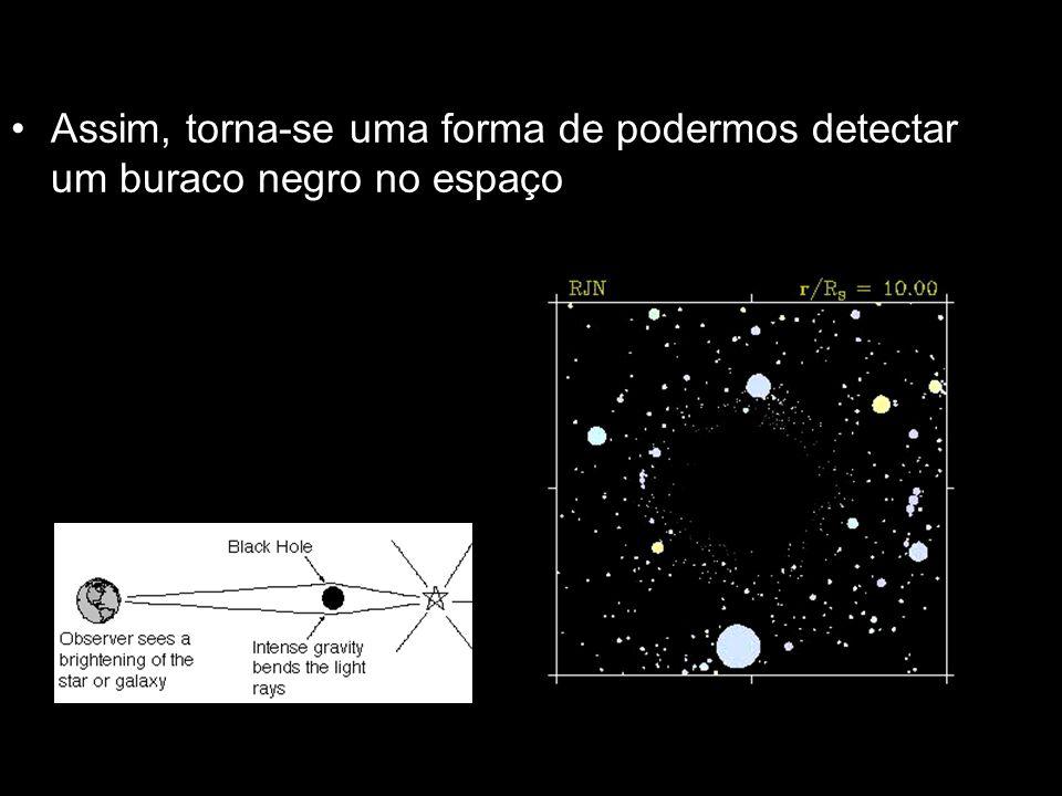 Assim, torna-se uma forma de podermos detectar um buraco negro no espaço