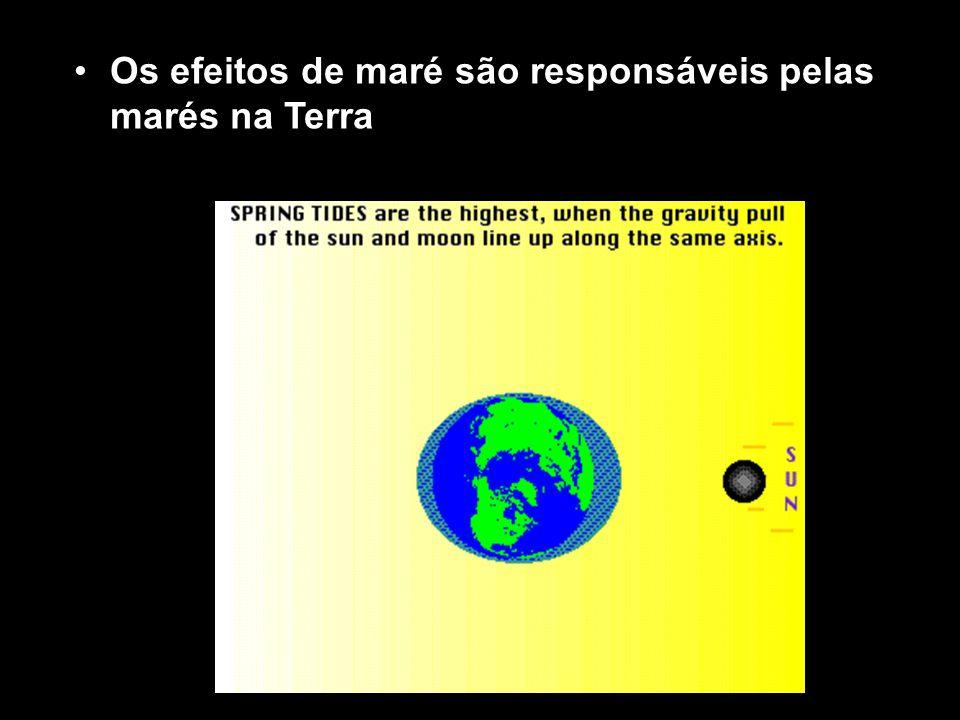 Os efeitos de maré são responsáveis pelas marés na Terra