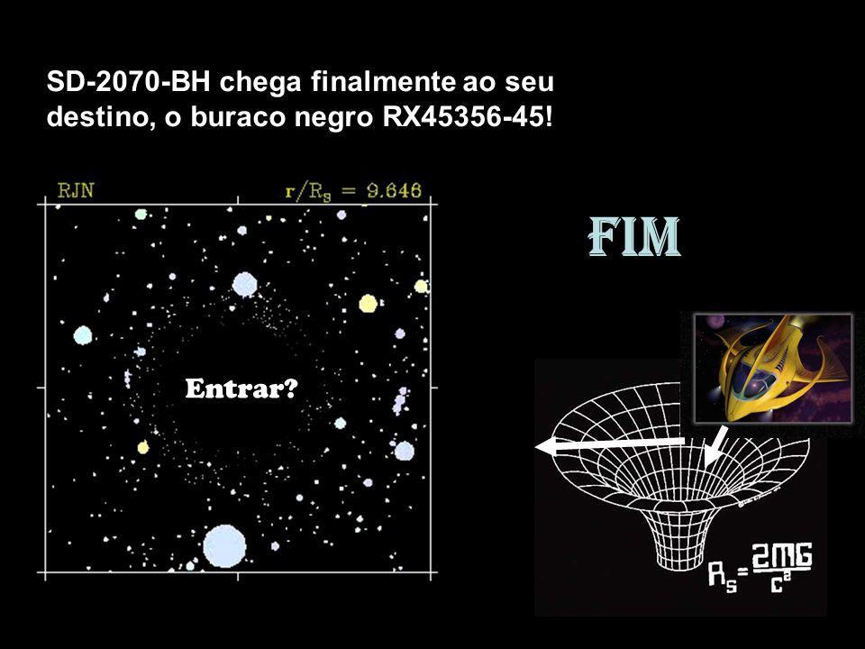 Entrar? SD-2070-BH chega finalmente ao seu destino, o buraco negro RX45356-45! FIM