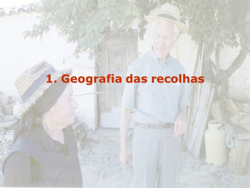 1. Geografia das recolhas