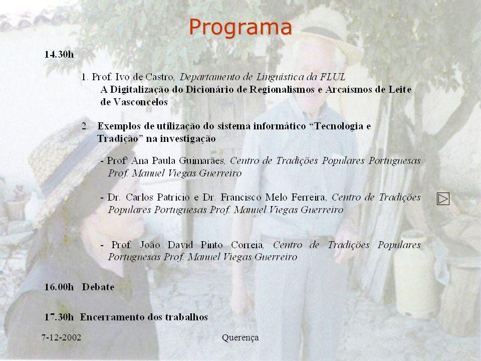 7-12-2002QuerençaPrograma