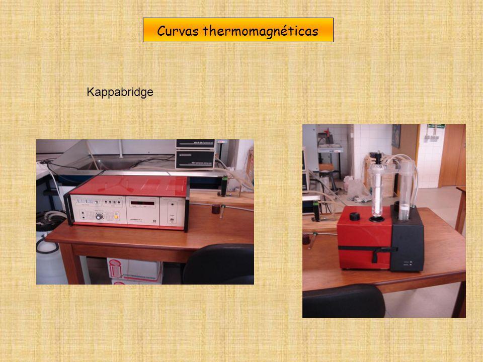 Curvas thermomagnéticas Kappabridge