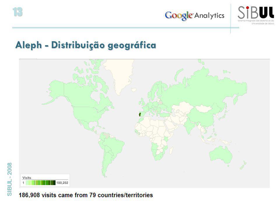13 SIBUL - 2008 Aleph - Distribuição geográfica