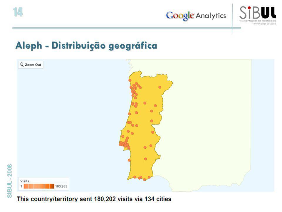 14 SIBUL - 2008 Aleph - Distribuição geográfica