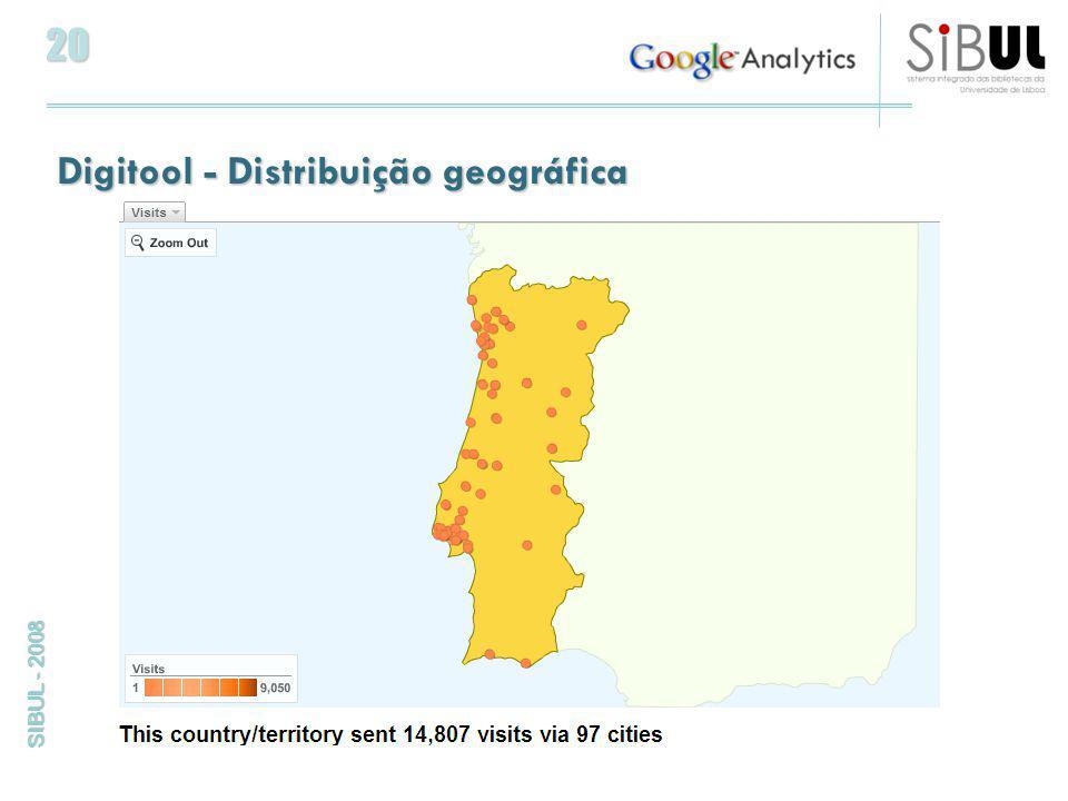 20 SIBUL - 2008 Digitool - Distribuição geográfica