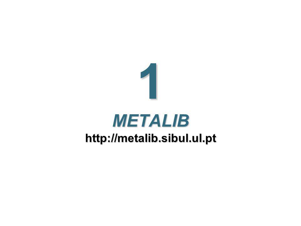 5 SIBUL - 2008 Metalib - Utilização do portal