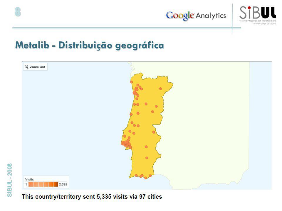 8 SIBUL - 2008 Metalib - Distribuição geográfica