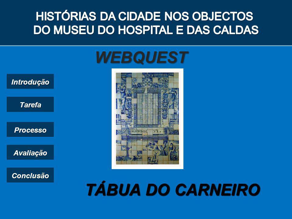TÁBUA DO CARNEIRO WEBQUEST Introdução Tarefa Processo Avaliação Conclusão