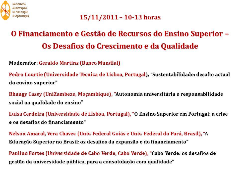 15/11/2011 14.00 - 17.30 horas 10 painéis em sessões paralelas 86 comunicações científicas Ida para Coimbra Jantar em S.