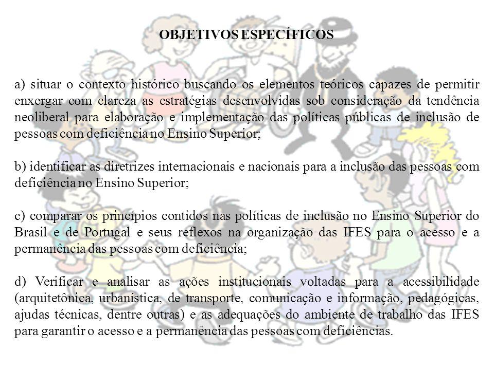 REFERÊNCIAS SANTOS, C.da S.; CARMO, A. A. do. Universidade e deficiência.