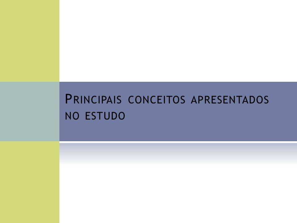 P RINCIPAIS CONCEITOS APRESENTADOS NO ESTUDO