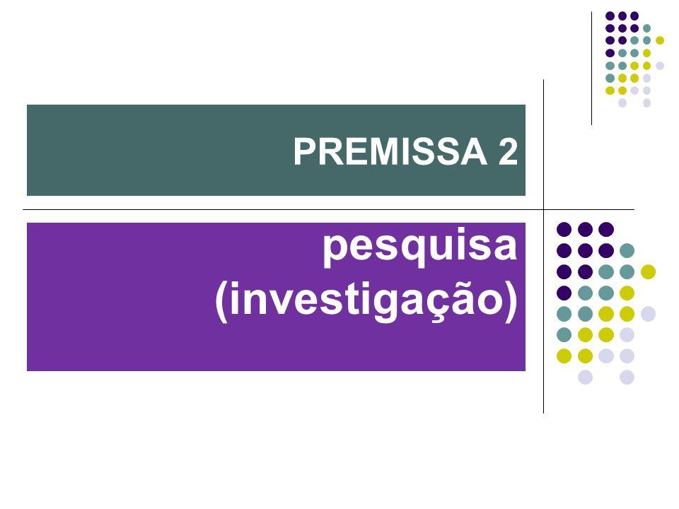 pesquisa (investigação) PREMISSA 2