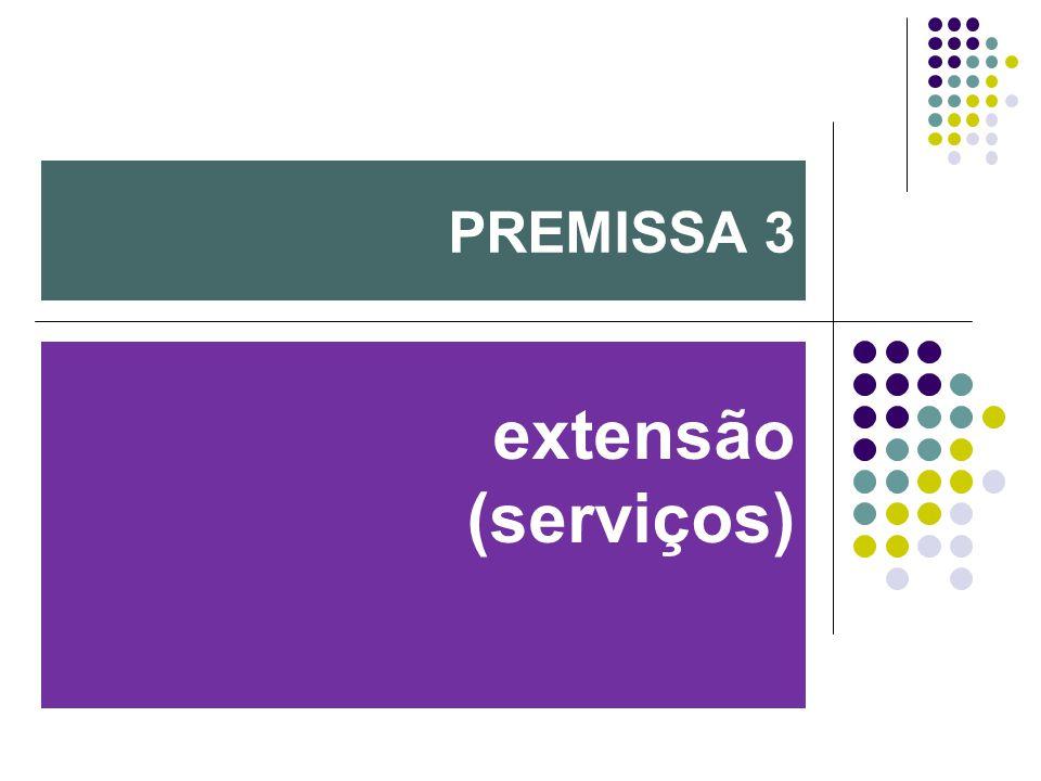extensão (serviços) PREMISSA 3