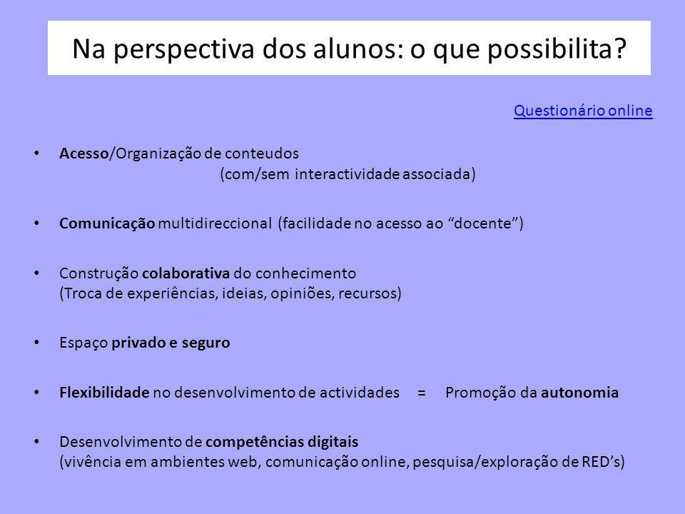 No trabalho docente: o que possibilita.