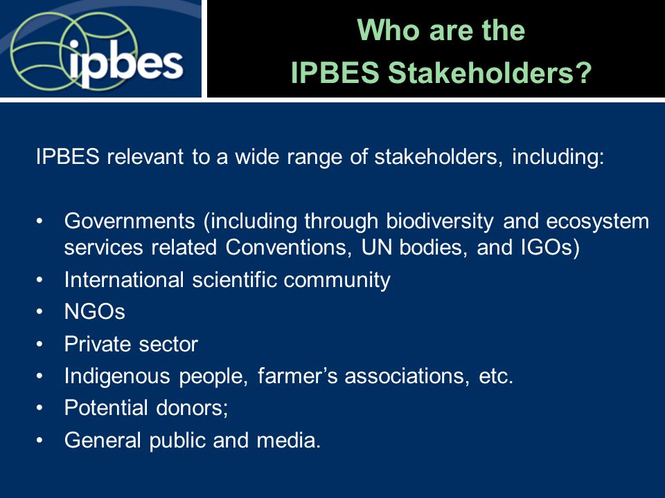 Current process on IPBES Resolving various procedural elements Rules of procedure Other procedures Preparations for the initial work programme of the platform Capacity building needs Scoping process Overview of assessments Conceptual framework MEP bioregional structure
