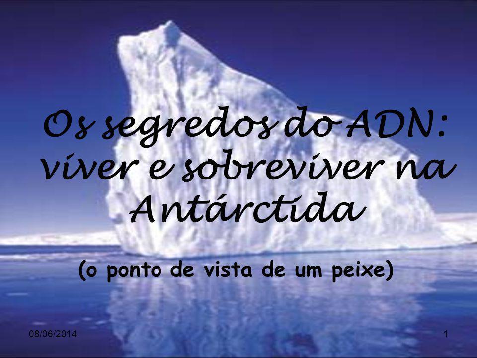 08/06/20141 (o ponto de vista de um peixe) Os segredos do ADN: viver e sobreviver na Antárctida