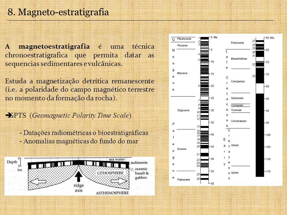 A magnetoestratigrafia é uma técnica chronoestratigrafica que permita datar as sequencias sedimentares e vulcânicas.