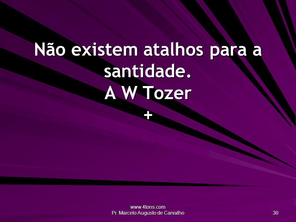 www.4tons.com Pr. Marcelo Augusto de Carvalho 30 Não existem atalhos para a santidade. A W Tozer +