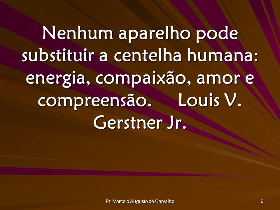 Pr. Marcelo Augusto de Carvalho 7 O homem, esse desconhecido.Alexis Carrel