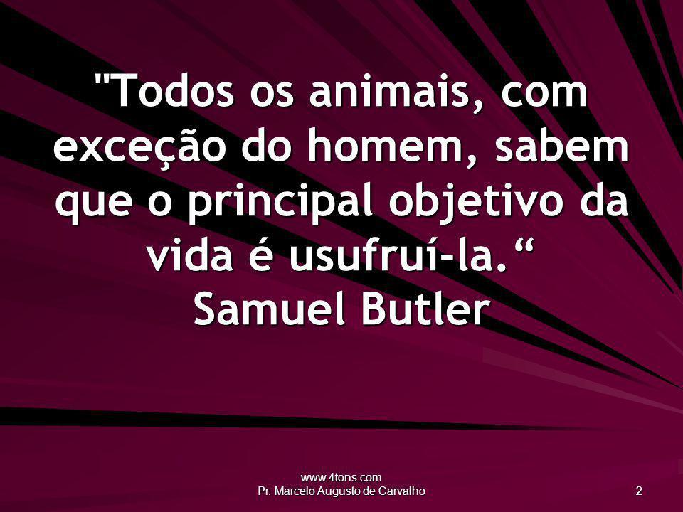 www.4tons.com Pr.Marcelo Augusto de Carvalho 33 Se tiveres uma biblioteca como jardim, tens tudo.