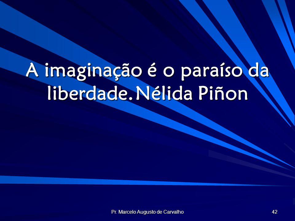 Pr. Marcelo Augusto de Carvalho 42 A imaginação é o paraíso da liberdade.Nélida Piñon
