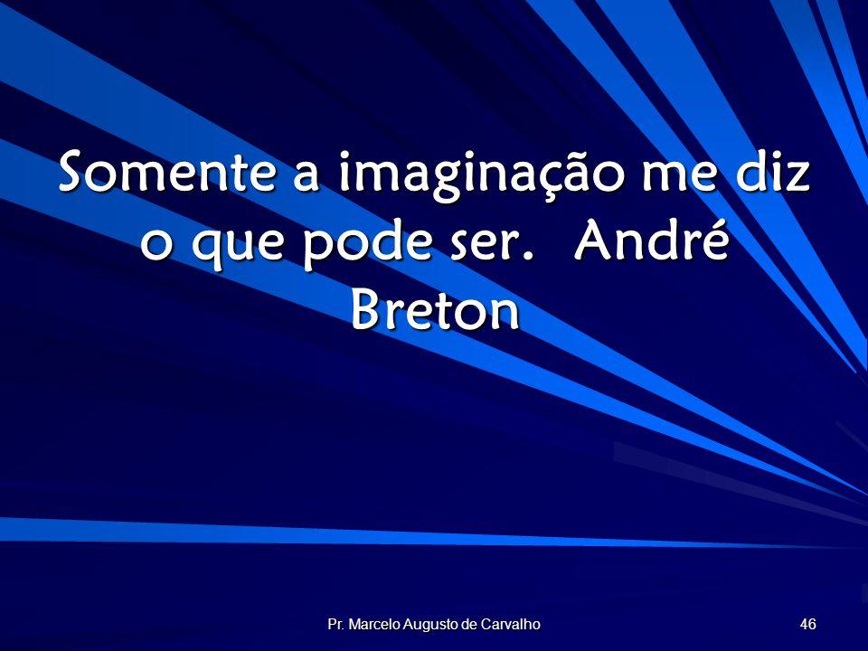 Pr. Marcelo Augusto de Carvalho 46 Somente a imaginação me diz o que pode ser.André Breton