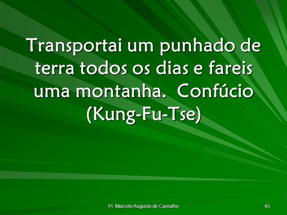 Pr. Marcelo Augusto de Carvalho 45 Transportai um punhado de terra todos os dias e fareis uma montanha.Confúcio (Kung-Fu-Tse)