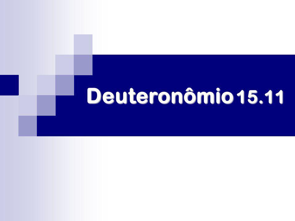Deuteronômio 15.11