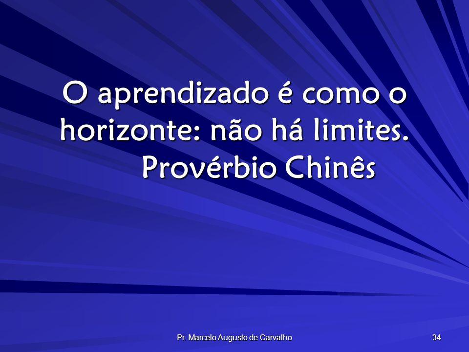 Pr. Marcelo Augusto de Carvalho 34 O aprendizado é como o horizonte: não há limites. Provérbio Chinês