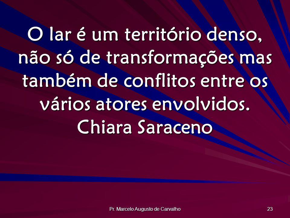 Pr. Marcelo Augusto de Carvalho 23 O lar é um território denso, não só de transformações mas também de conflitos entre os vários atores envolvidos. Ch