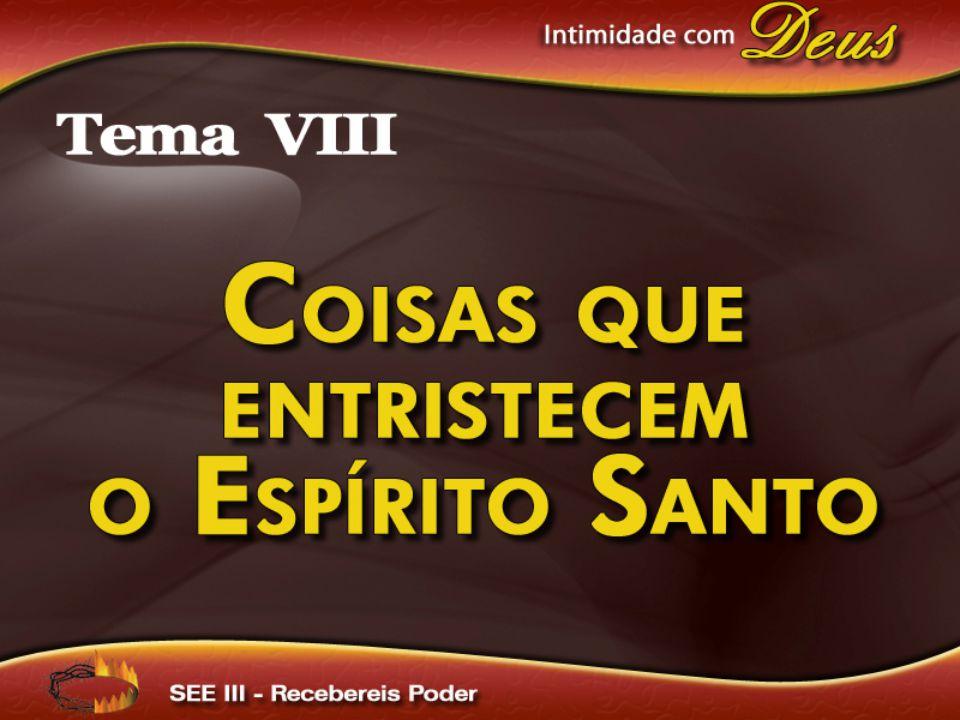 E não entristeçais o Espírito Santo de Deus, no qual fostes selados para o dia da redenção.