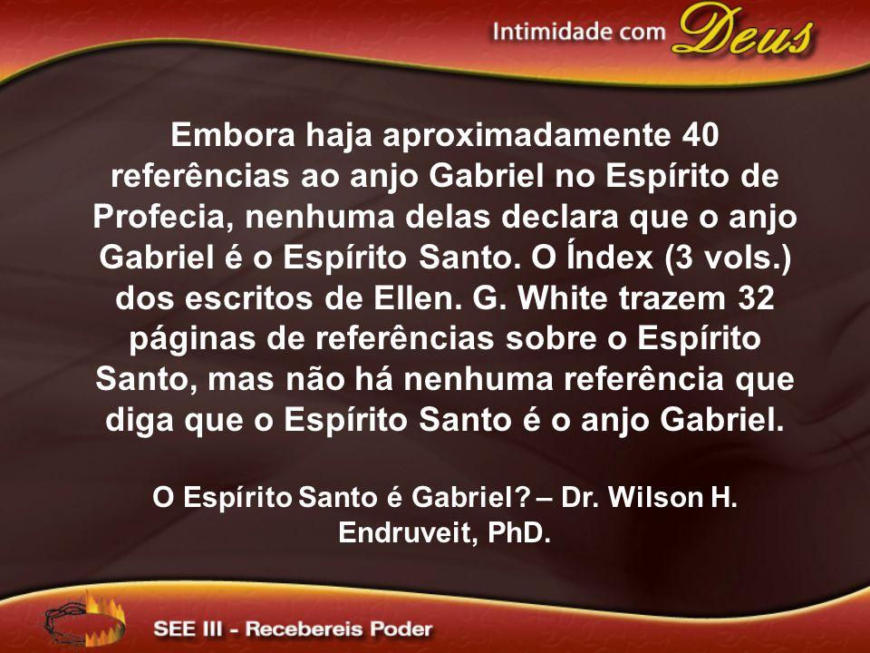 Embora haja aproximadamente 40 referências ao anjo Gabriel no Espírito de Profecia, nenhuma delas declara que o anjo Gabriel é o Espírito Santo. O Índ