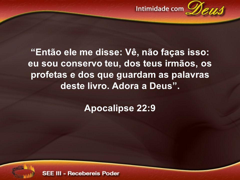 Então ele me disse: Vê, não faças isso: eu sou conservo teu, dos teus irmãos, os profetas e dos que guardam as palavras deste livro.