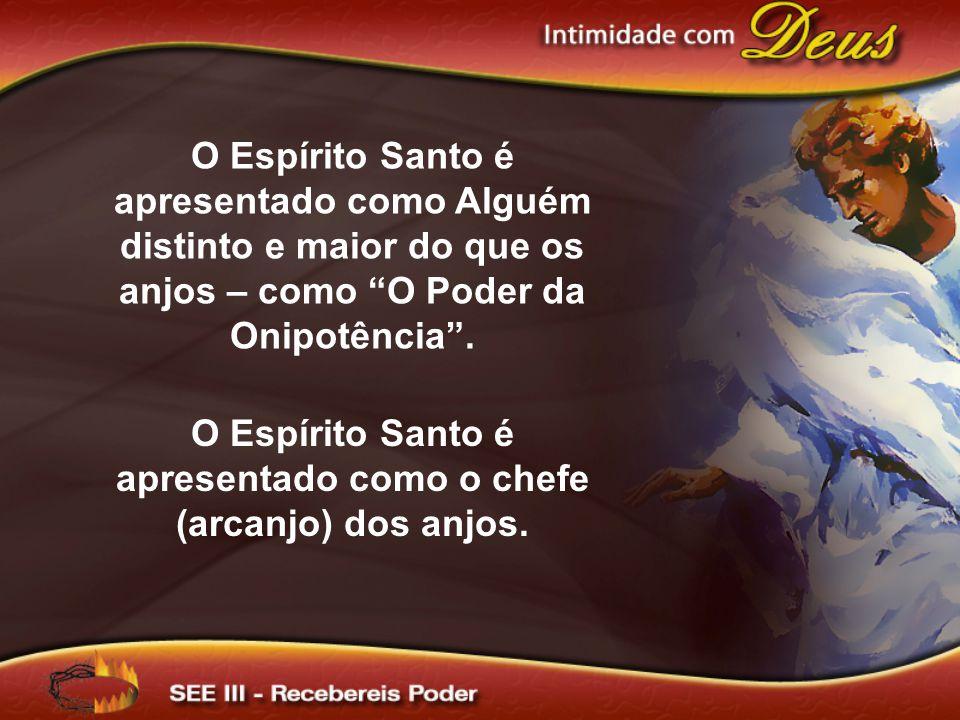 O Espírito Santo é apresentado como Alguém distinto e maior do que os anjos – como O Poder da Onipotência.