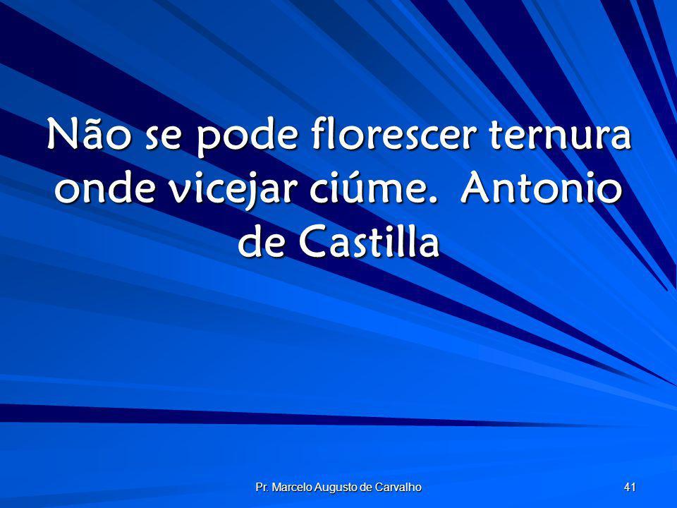 Pr. Marcelo Augusto de Carvalho 41 Não se pode florescer ternura onde vicejar ciúme.Antonio de Castilla