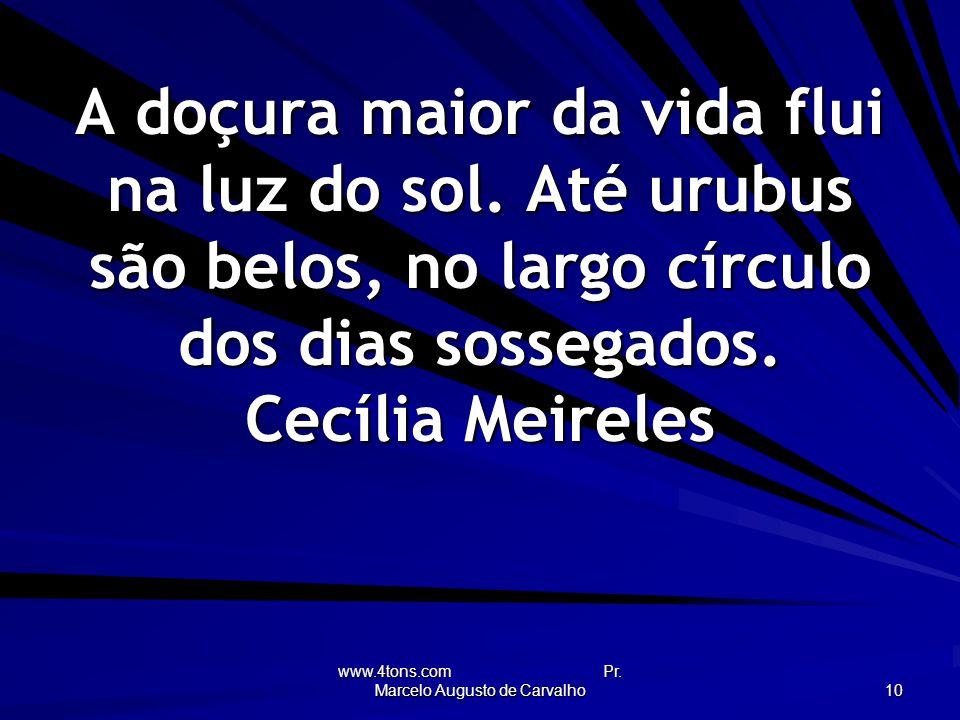 www.4tons.com Pr.Marcelo Augusto de Carvalho 10 A doçura maior da vida flui na luz do sol.