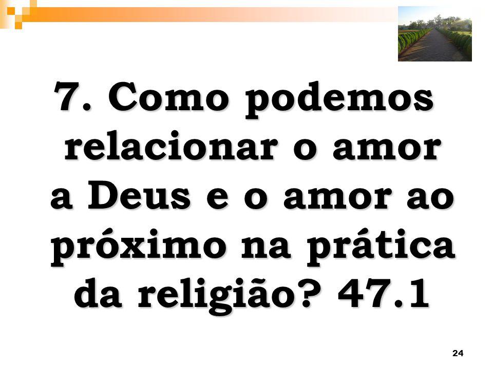 24 7. Como podemos relacionar o amor a Deus e o amor ao próximo na prática da religião? 47.1