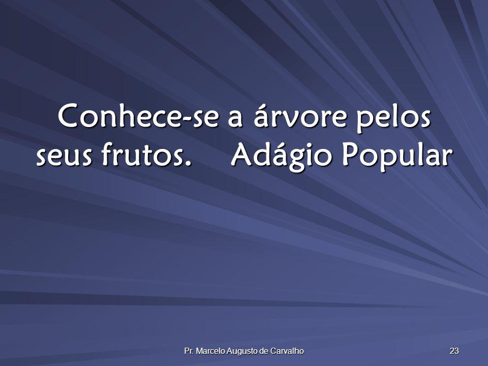 Pr. Marcelo Augusto de Carvalho 23 Conhece-se a árvore pelos seus frutos.Adágio Popular