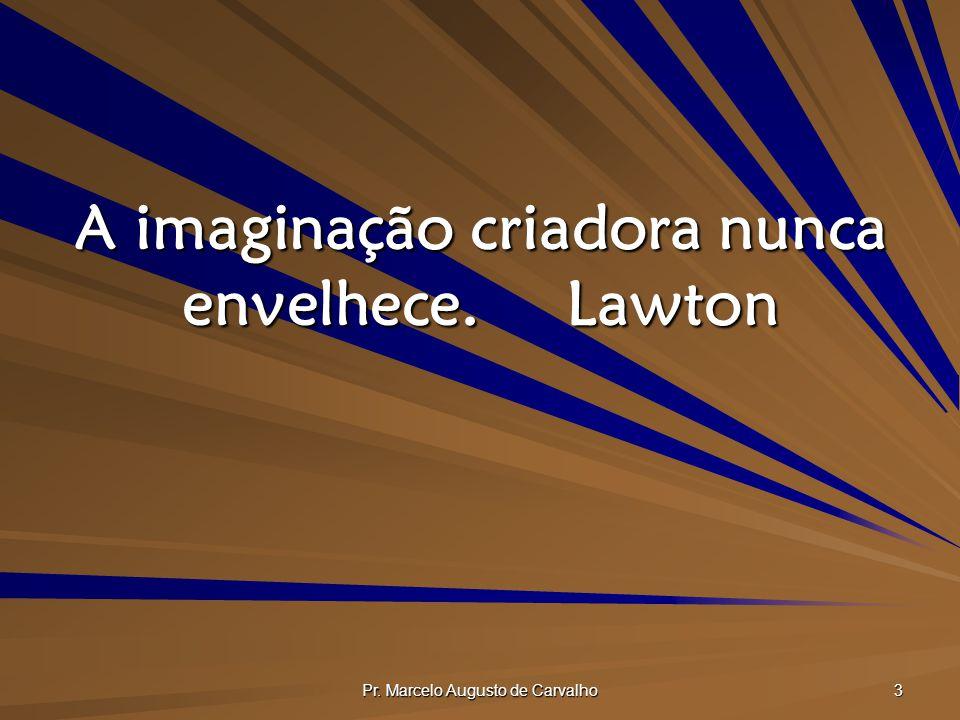 Pr. Marcelo Augusto de Carvalho 3 A imaginação criadora nunca envelhece.Lawton