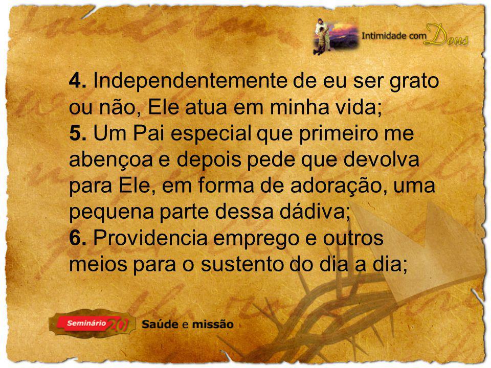 7. Provê saúde e disposição para eu ganhar o pão; 8. Dá-me conhecimento, sabedoria e prosperidade.