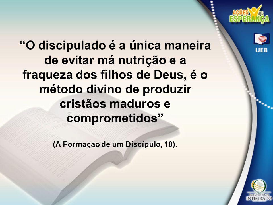 O resultado da falta de discipulado é letargia, indiferença, inatividade, falta de compromisso com a comunhão e missão da igreja.