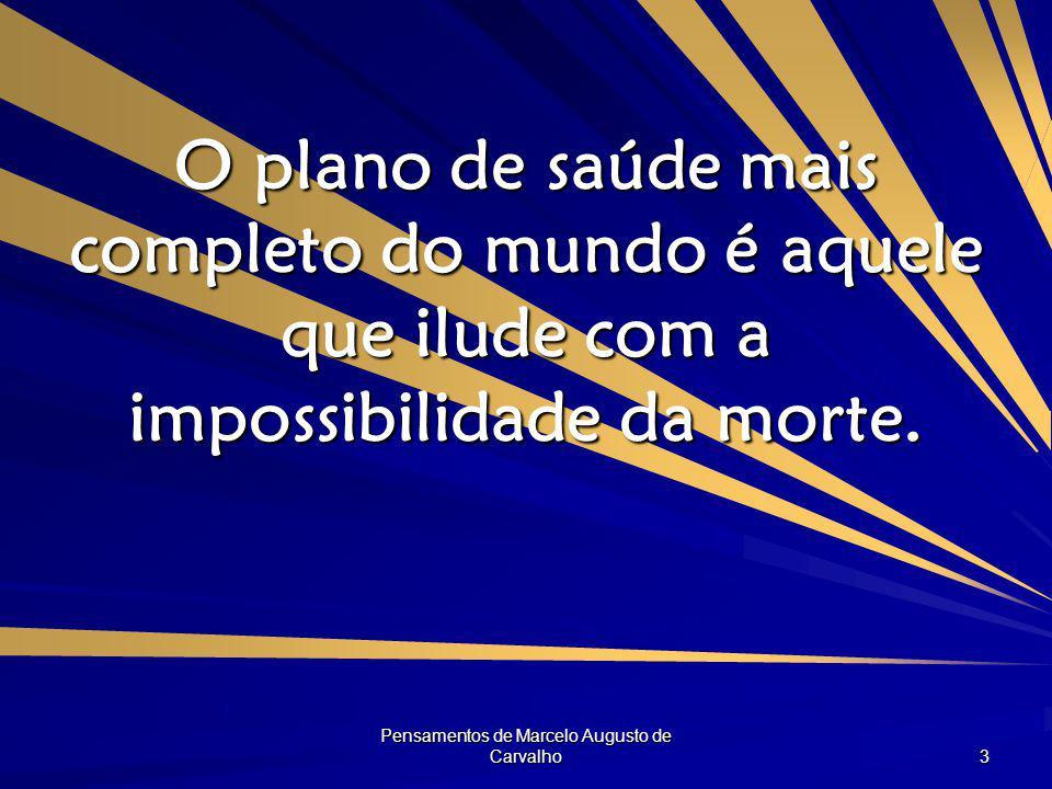 Pensamentos de Marcelo Augusto de Carvalho 14 Para ampliar seu ponto de vista não é preciso mexer no horizonte mas focalizá-lo melhor.