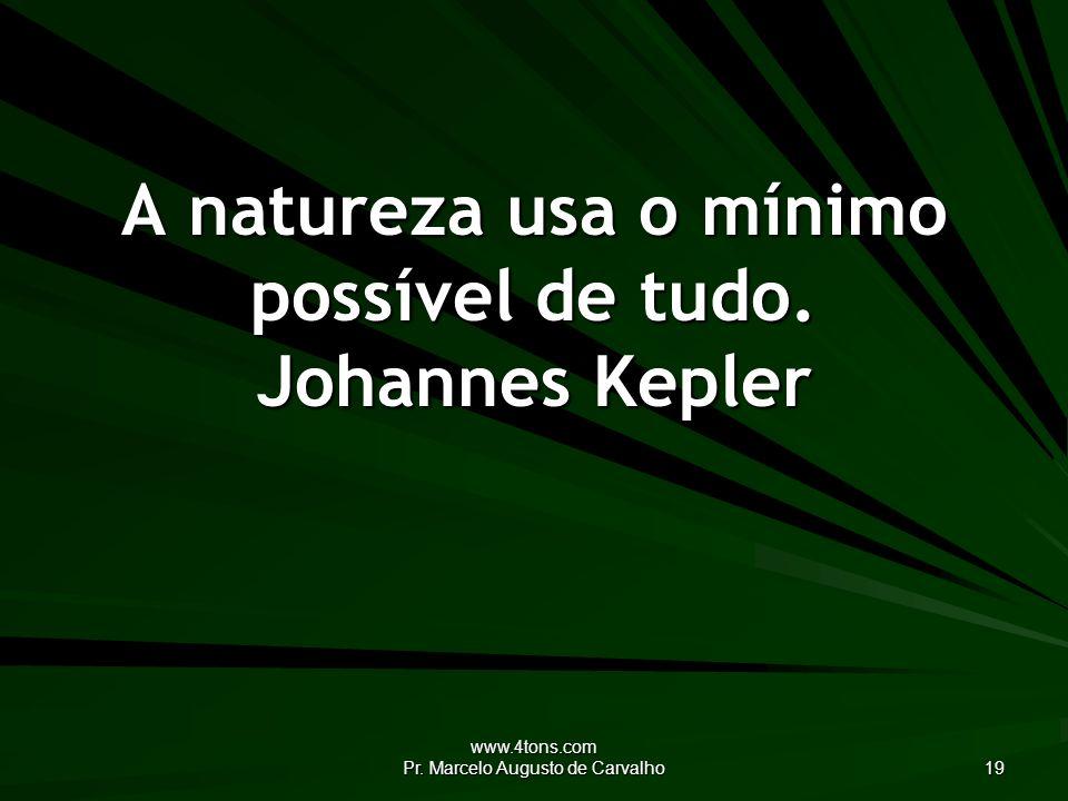 www.4tons.com Pr.Marcelo Augusto de Carvalho 19 A natureza usa o mínimo possível de tudo.