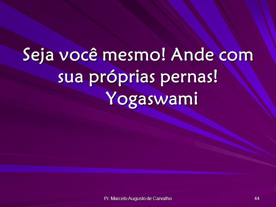 Pr. Marcelo Augusto de Carvalho 44 Seja você mesmo! Ande com sua próprias pernas! Yogaswami